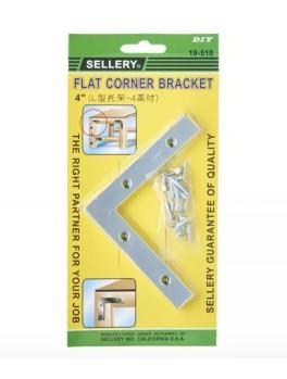 "SELLERY 19-510 Flat Corner Bracket- 4"""
