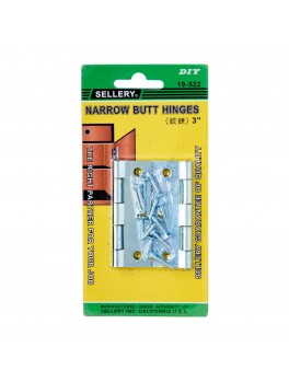 SELLERY 19-522 Narrow Butt Hinges 3""
