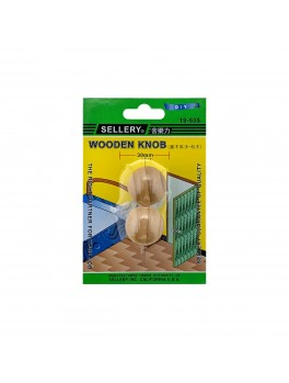 SELLERY 19-535 Wooden Knob- 30mm