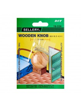 SELLERY 19-536 Wooden Knob- 35mm