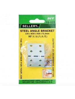 SELLERY 19-555 Steel Angle Bracket- L35xW35xH35xT1.5mm