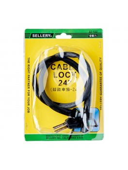 "SELLERY 22-122 Cable Lock 24""x4mm"