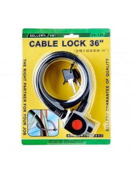 "SELLERY 22-125 Cable Lock 36""x12mm"