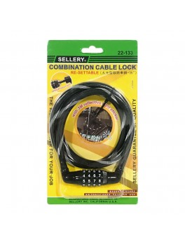 "SELLERY 22-133 Combination Cable Lock 36""x10mm"