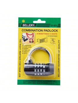 SELLERY 22-323 Combination Padlock (4-Digits Resettable) 70mm