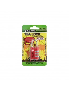SELLERY 22-330 Travel Sentry® Approved Padlock- Red