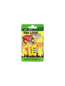 SELLERY 22-330 Travel Sentry® Approved Padlock- Yellow