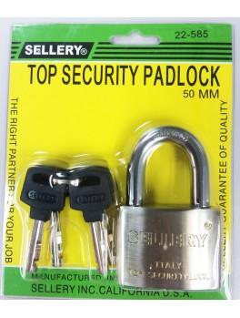 SELLERY 22-585 Steel Padlock, Size: 50mm