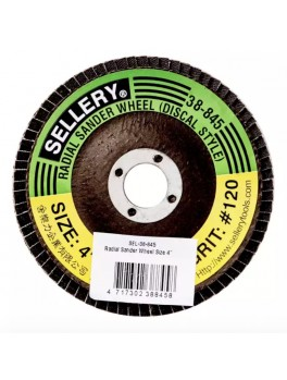 SELLERY 38-845 Radial Wheel #120, Size: 100mmx2mmx16mm