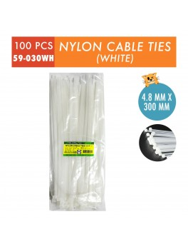 SELLERY 59-030 Nylon Cable Tie, Size: 4.8mm x 300mm (White)