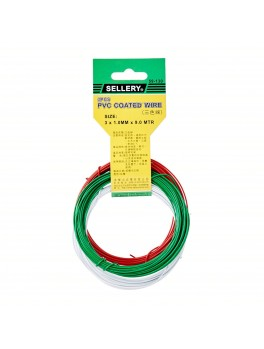SELLERY 59-130 Colour PVC Coated Wire, Size: 1mmx9M