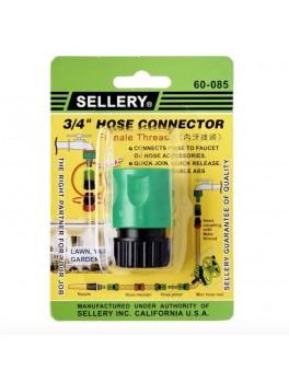 "SELLERY 60-085 Hose Connector 3/4"", Female Thread"