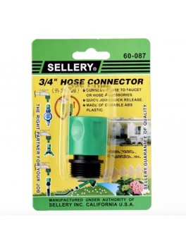 "SELLERY 60-087 Hose Connector 3/4"", Male Thread"