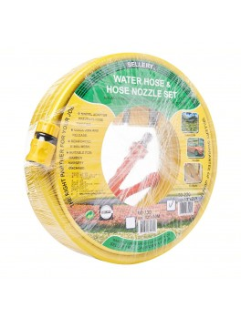 "SELLERY 60-220 Water Hose & Hose Nozzle Set 1/2"" X 20M (Yellow)"