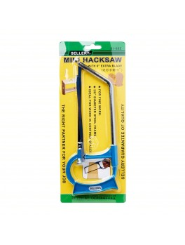 "SELLERY 81-905 Mini Hacksaw 6"" (with 2 pc 6"" High Carbon Steel Blades)"