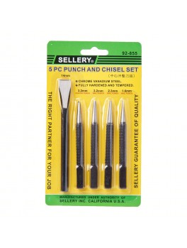 SELLERY 92-855 5pc Punch & Chisel Set (CRV)