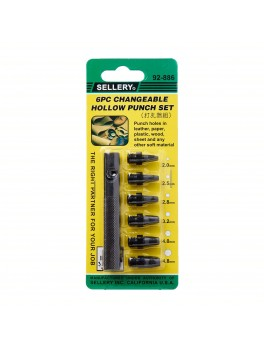 SELLERY 92-886 6pc Changeable Hollow Punch Set
