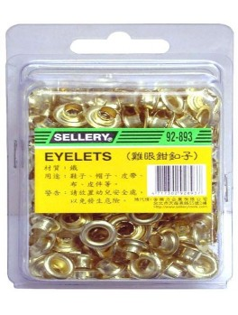SELLERY 92-893G Gold Eyelets 6mm
