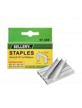SELLERY 97-388 Staples, Size: 8mm (1000pc/set)