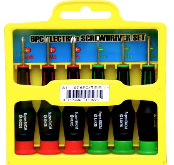 SELLERY 11-197  6pcs Precision Screwdriver Set
