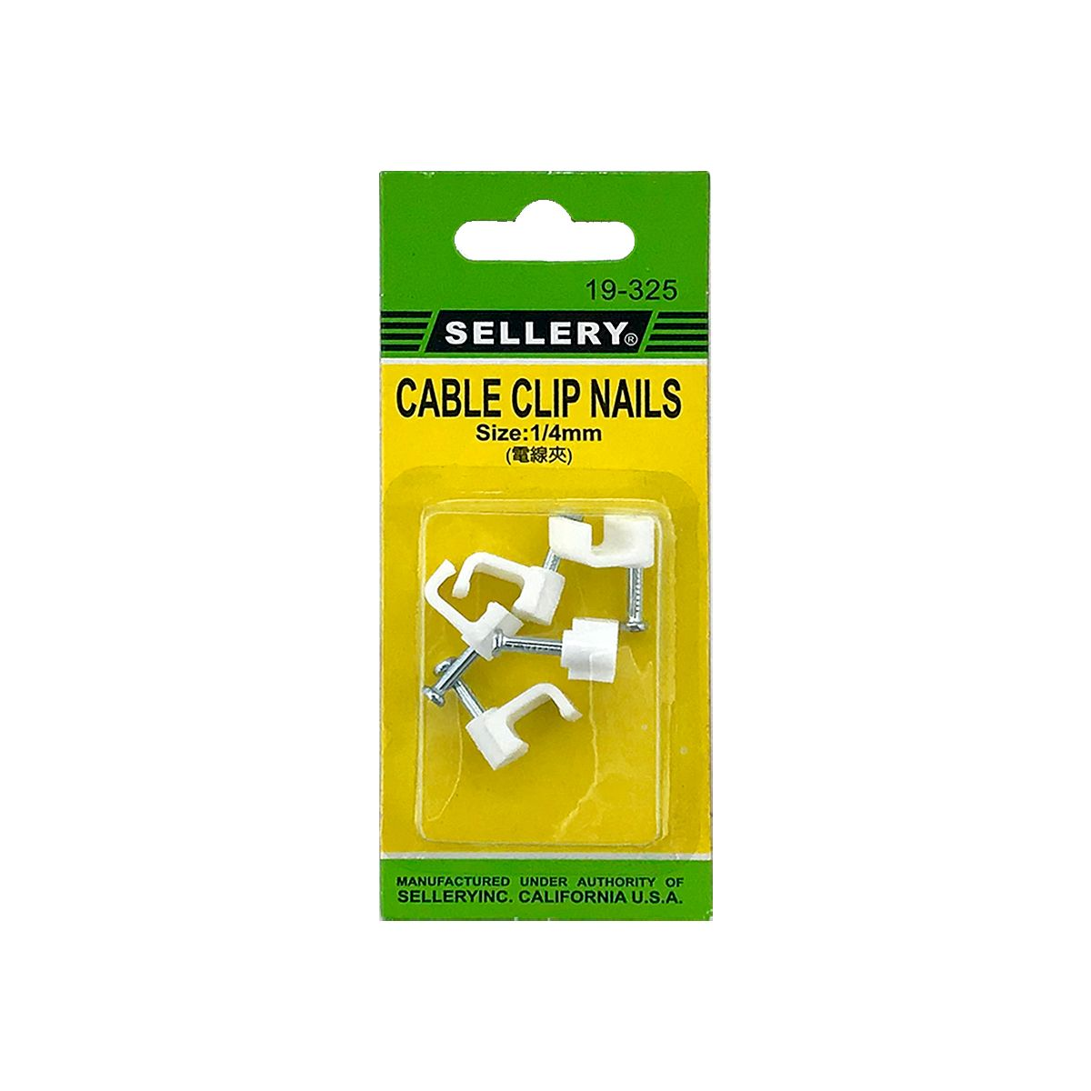 SELLERY 19-325 Cable Clip Nails- 1/4""
